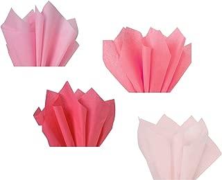 Light Pink Blush Rose Salmon Coral Assorted Mixed Color Multi-Pack Tissue Paper for Flower Pom Poms Art Craft Wedding Bridal Baby Shower Party Gift Bag Basket Filler Decoration