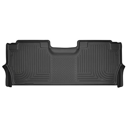 Husky Liners Fits 2017-19 Ford F-250/F-350 Crew Cab with factory storage box Weatherbeater 2nd Seat Floor Mat