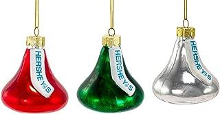 Kurt Adler Hershey Kisses Glass Set, Christmas Ornament