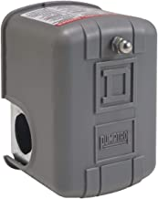Square D by Schneider Electric 9013FSG2J21 Air-Pump Pressure Switch, NEMA 1, 30-50 psi Pressure Setting, 20-65 psi Cut-Out, 15-30 psi Adjustable Differential