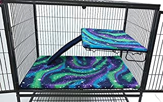 Piggy BedSpreads Fleece Liners for Ferret Nation Critter Nation Cage (Cage Not Included)