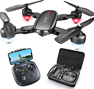Foldable GPS Drone with 4K Camera for Adults,Zuhafa T5,RC Quadcopter with GPS Return Home,5Ghz WiFi Transmission Live Video,40 Minutes Flight Time, Long Control Range, Includes Carrying Bag