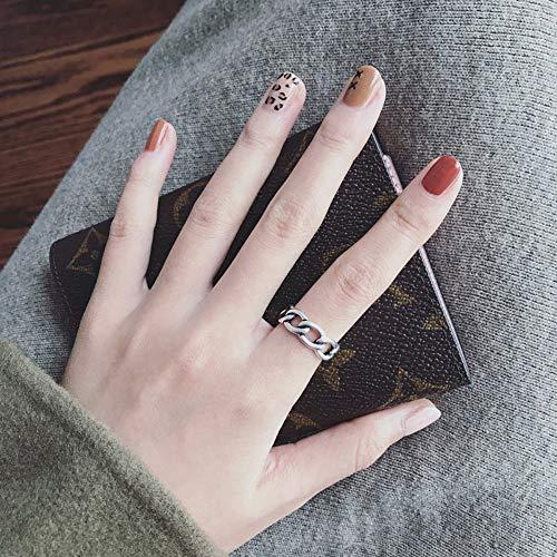 DLIAN ringen opening ring vrouwelijk retro punk persoonlijkheid balketting kruis kleine bel decoratie eenvoudige trend mannelijke wijsvinger instelbare ring 12 stijl geschenk sieraden