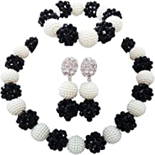 laanc 1 Layer African Bead Necklace Bracelet Earrings Nigeria Wedding Party Can Be Customized Jewelry Set