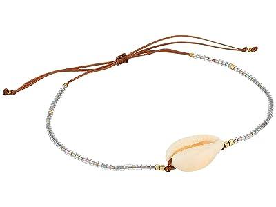 SHASHI Shelly Slide Tan Bracelet (Silver) Bracelet