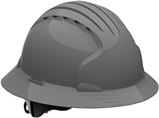 Evolution Deluxe 6161 280-EV6161V-40 Vented Full Brim Hard Hat with Ratchet Suspension, Gray