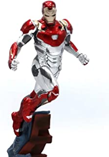 WAHE Anime Statue 1/10 Spider-Man Hero Returns Iron Man MK47 Hand-Made Model Decoration Doll Height About 27cm