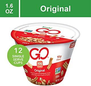 Kashi GO Original Breakfast Cereal - Non-GMO | Vegetarian | Single Serve Cups 1.6 Oz (Pack of 12)