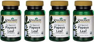 Swanson Full Spectrum Papaya Leaf 400 mg 60 Caps 4 Pack