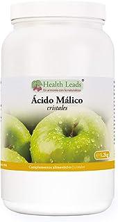 Polvo de ácido málico 1,2kg, Calidad de uso alimentario superior, Apto para elaborar vino o cerveza artesanos, Sin estearato de magnesio y sin aditivos desagradables