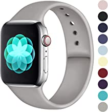 ilopee Waterproof Sport Band Compatible with Apple Watch Series 5 4 3 2 1, Fashionable Strap for iWatch 42mm 44mm, Slate Gray, M/L