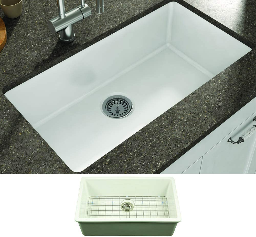 Empire Industries YU32 Yorkshire Single Fireclay Undermount NEW before selling New color Bowl