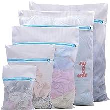5 Pcs Blue Delicate Mesh Laundry Bags with Zipper, Auma Bags for Laundry, Travel Storage Organize Bag, Clothing Washing Ba...