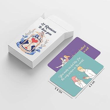 Gamut Retails   Love Cards   21 Reason to Love   Matte Finish   HD Print   8.5x5.5 cm