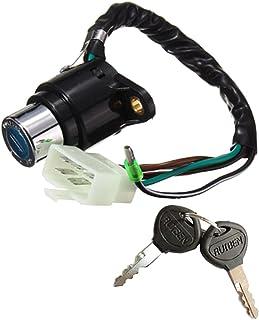 Interruptores de chave de ignição Baoblaze On-Off 6 fios ATV para Honda Hawk I/II 400 CB400T 78 79