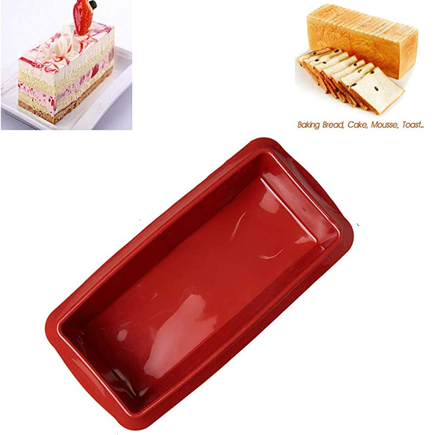 Silicone Loaf Cake Pan, Baking Mold Non-stick Silicone Baking Pan Bread Bundt Pan Homemade Cake Decorating Tools