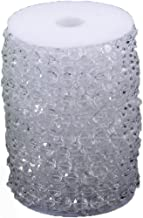 99FT Iridescent Octagonal Acrylic Beads Strand Wedding Party 10mm 30m Diamond Plastic Crystal Clear Beads String Line Chain Garland Decorations Rhinestone Christmas Hanging Curtain (Clear, 99FT)