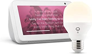 Echo Show 5, Bianco + lampadina intelligente LIFX White, compatibile con Alexa