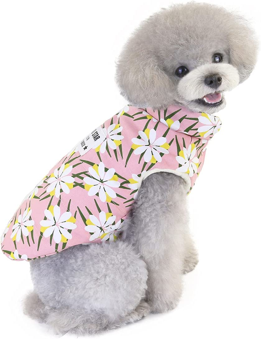 sale Yealay Dog Winter Jacket Vest NEW before selling ☆ Warm Clothes Daisy Patter Pet with