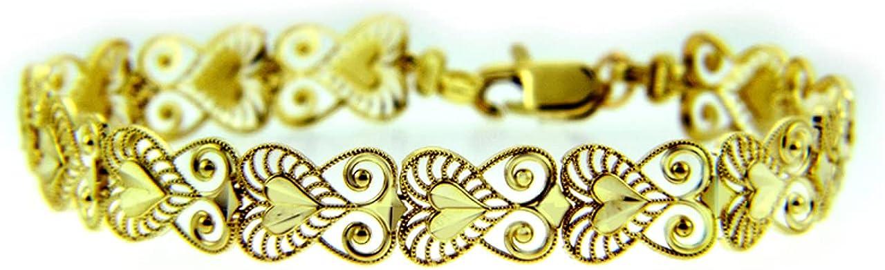 YELLOW GOLD BRACELET - Albuquerque Mall THE NOVA 14K Ranking TOP8 Gold Purity:: Br