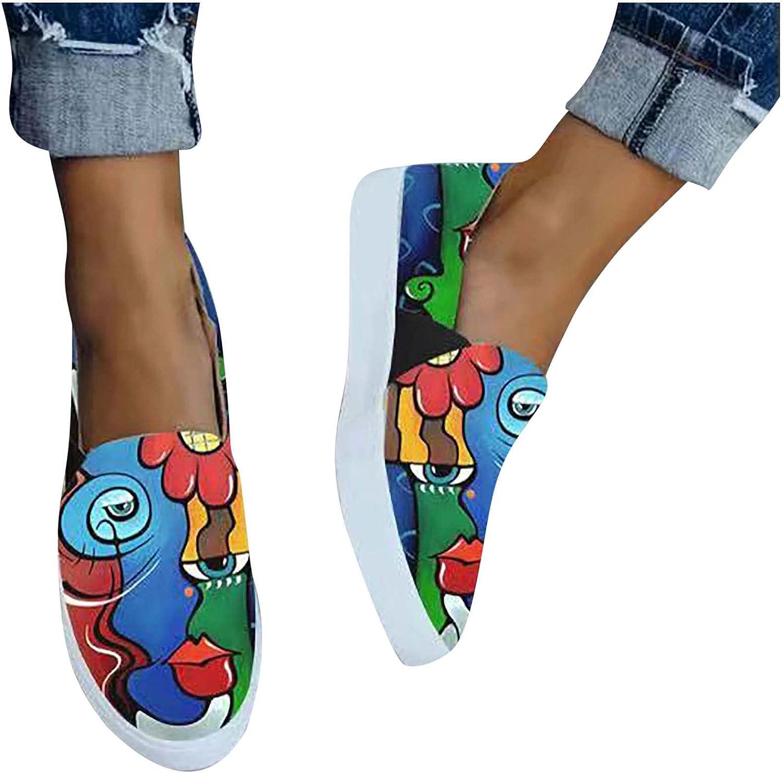 Women's Painted depot Canvas Fashion Slip-on Casu Shoes Excellent Walking Travel