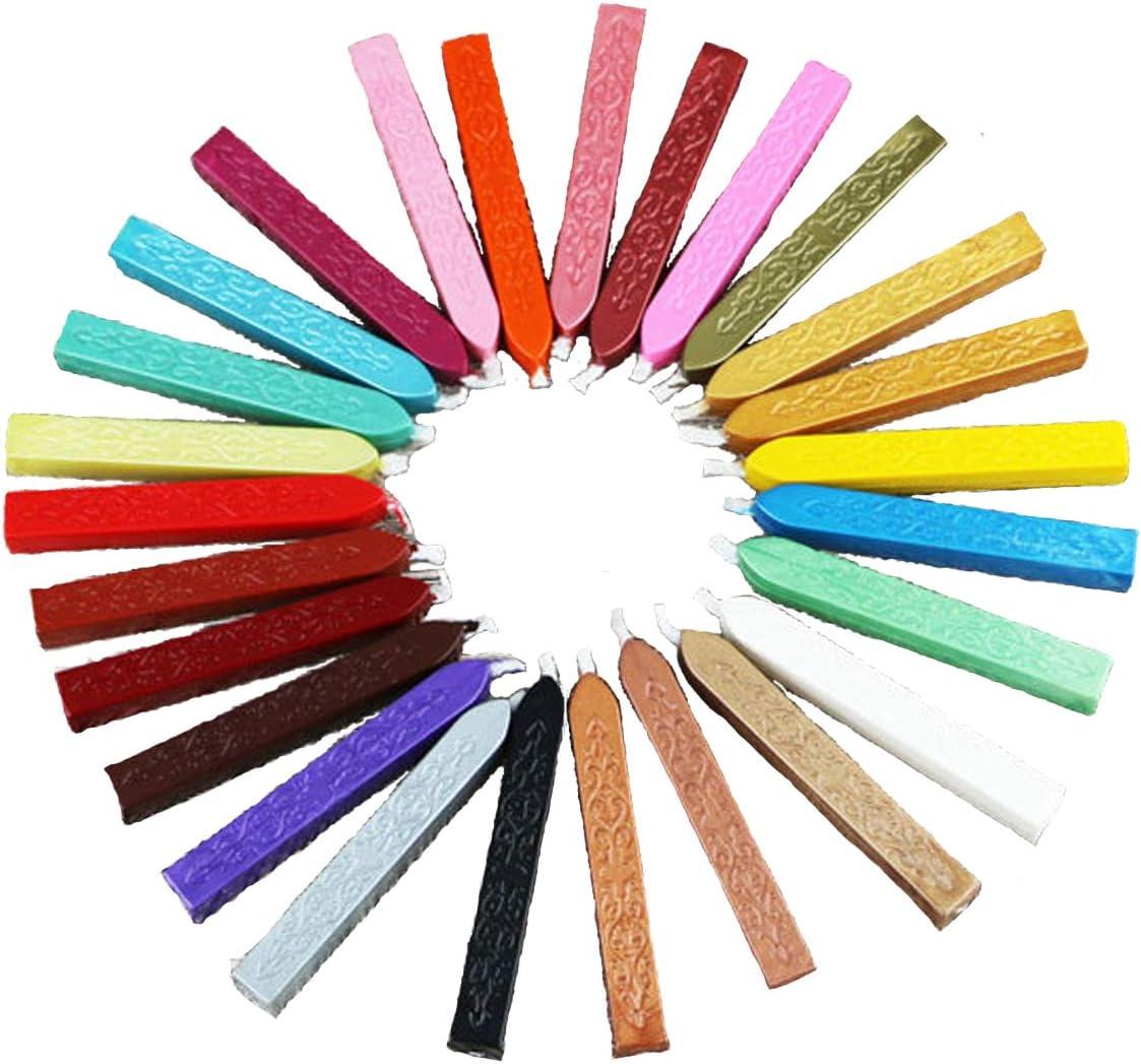 in stile vintage 26 colori assortiti PUQU Ceralacca in ceralacca con stoppini