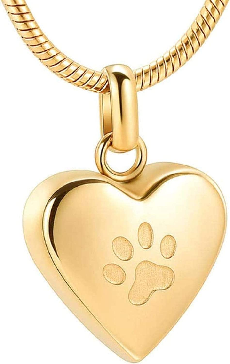 Memorial Cremation Cremation Jewelry pet Memorial Necklace Paw Print Funeral Ashes Urn Necklace Keepsake Cremation Jewelry Dog/Cats Ashes