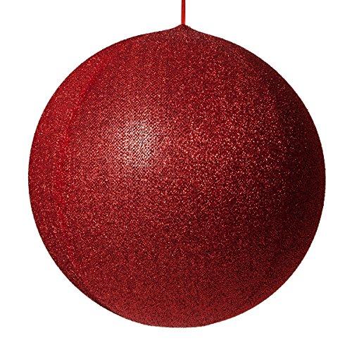 Inflatable Decorative Ornament, Yard Christmas Decoration, Christmas Decoration for Businesses, Huge Christmas Ball Decoration Christmas Home (20 Inch, Red Metallic Mesh)