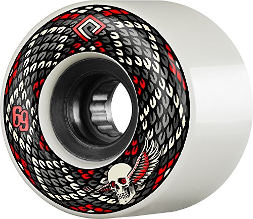 Powell Peralta Snakes 69mm 75A Red Skateboard Wheels