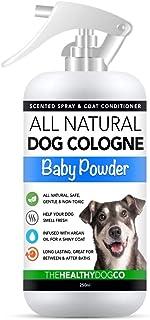 Colonia Para Perros en Espray Completamente Natural / Perfume en Espray Para Perros | Talco Para Bebés | Desodorante Dese...