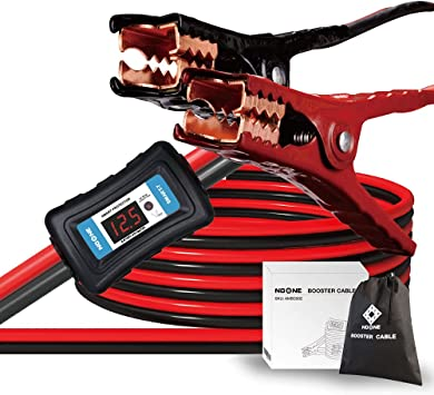 NoOne Heavy Duty Jumper Cables 2 Gauge 20 Feet 800Amp Booster Cables with Carry Bag (2AWG x 20Ft): image