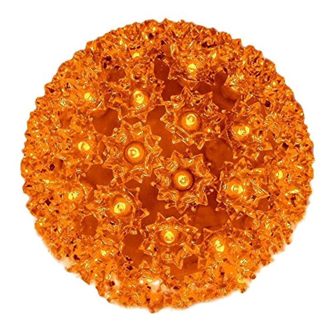 Novelty Lights 100 Light Outdoor Christmas LED Starlight Sphere, Orange, 7.5
