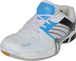 Vijayanti Pb90 White Blue Badminton Shoes