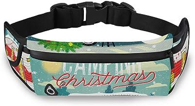 Kerstboom Sneeuwpop Taille Pack Tas voor Fietsen Fitness Oefening Waterdicht Verstelbare Workout Fanny Pack Vrouwen Mannen...
