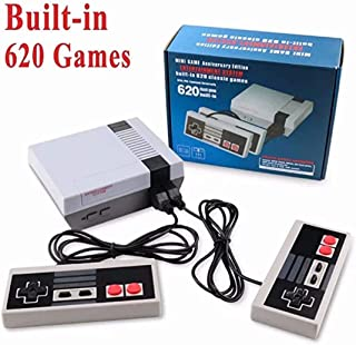 TFNKSF Classic Game Consoles , Video Game Consoles with Built in 620 Games NES Players Consoles Classic Back Output