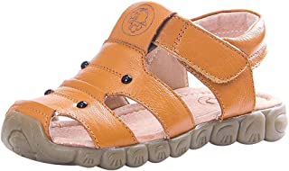 Sunbona (TM) Toddler Baby Boys Girls Beach Sandals Infant Kids Summer Leather Closed Toe Soft Anti-Slip Shoes Casual Flat Sneaker