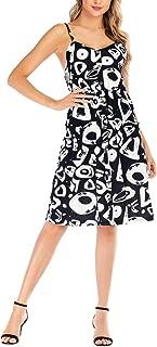 HuangKang Women Summer Dresses 2019 Spaghetti Strap Sexy Backless White Polka Dot Dress Beach Party Midi Dress Casual