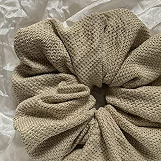 Cookies and Cream - Giant Scrunchies in Cotone, Elastici per Capelli, Elastico per Capelli,Elastici Scrunchies, Accessori ...