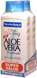Fruit Of The Earth Bogo Lotion Aloe Vera Skin Cooling 11 Ounce (325ml) Twin pack