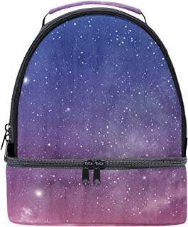 Mydaily Kids Lunch Box Magic Sky Galaxy Reusable Insulated School Lunch Tote Bag