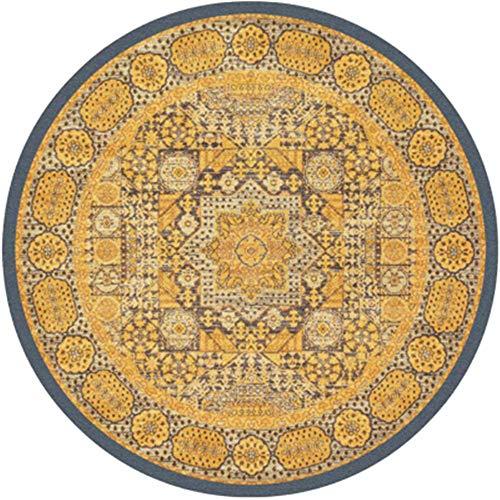Lzcaure-HO Alfombra nórdica étnica colorida alfombra súper suave antideslizante absorbe felpudo lavable alfombra de entrada, zapatos de salón étnico vintage (color: 17, tamaño: 120 cm)
