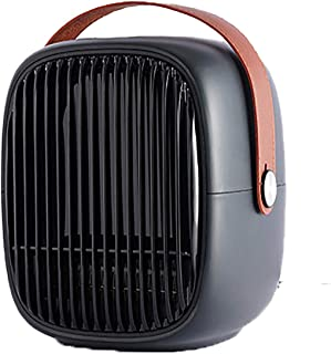 Portable Fan Heater Electric Heater 400W / 800W 3s Fast Heating Adjustable Thermostat Personal Space Heaters Fan with Tip-...