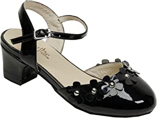 Pazitos Girls Silver DOrsey Criss Cross Strap Kitten Heel Shoes 12.5 Kids
