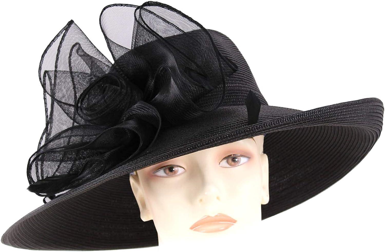 Ms Divine Womens Max 45% OFF Wide Brim Derby # Formal Church Hats Dress Albuquerque Mall