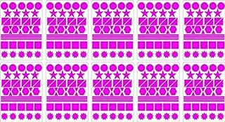 Lot gommettes autocollantes 400 multi formes bleu ciel 2cm carte scrapbooking