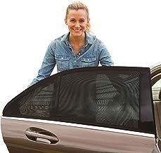 [2 Pack] Parasol de Coche Bebé Universal - Visera para Ventana lateral de coche - la Malla proporciona la máxima protección contra los rayos UVA para bebés, niños y mascotas - Fácil Instalación
