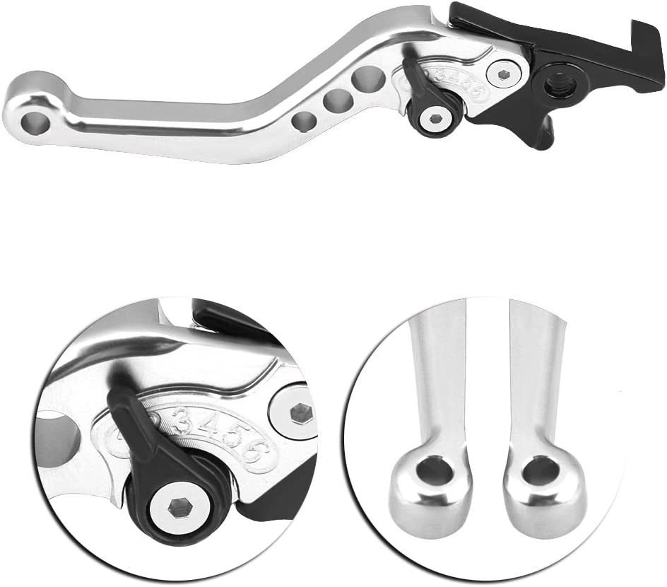 Leva del freno a doppio disco Tbest Blu 1 paio di modifica della leva del motociclo della motocicletta in lega di alluminio CNC Leva del freno a doppio disco universale