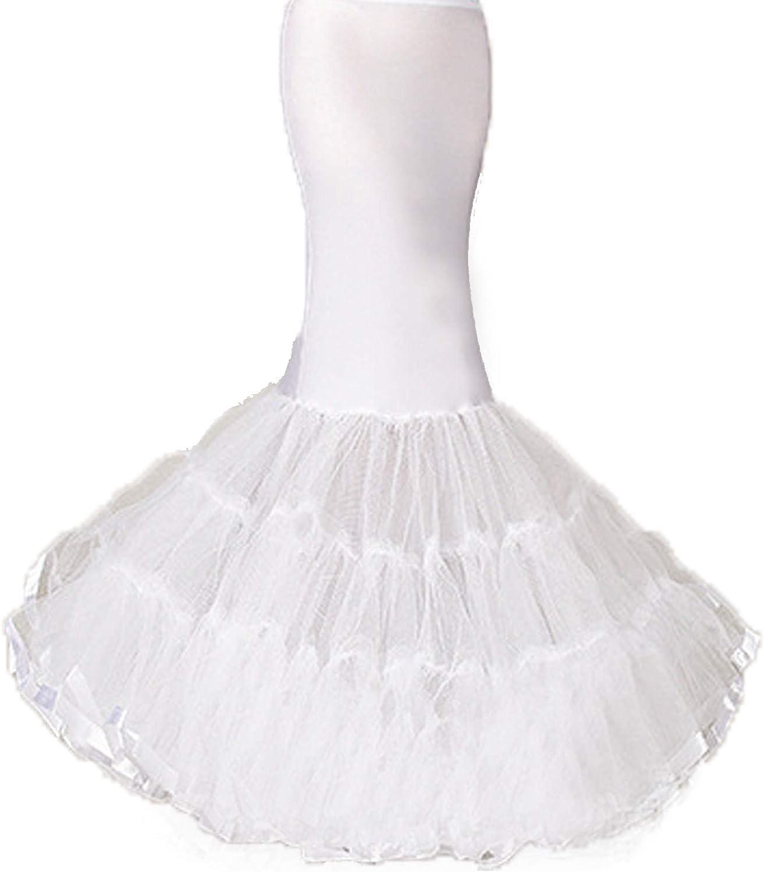 Women's 3 Layer Mermaid Petticoat C Fishtail Hoopless Surprise price High material Underskirt