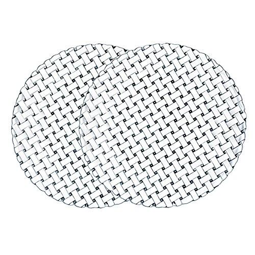 Spiegelau & Nachtmann, 2-er Set Platzteller, Kristallglas, Bossa Nova, Größe: 32 cm, Weiß, 0089994-0