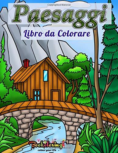 Libro da Colorare Paesaggi: Libro da colorare per adulti con 25 Disegni unici di paesaggi